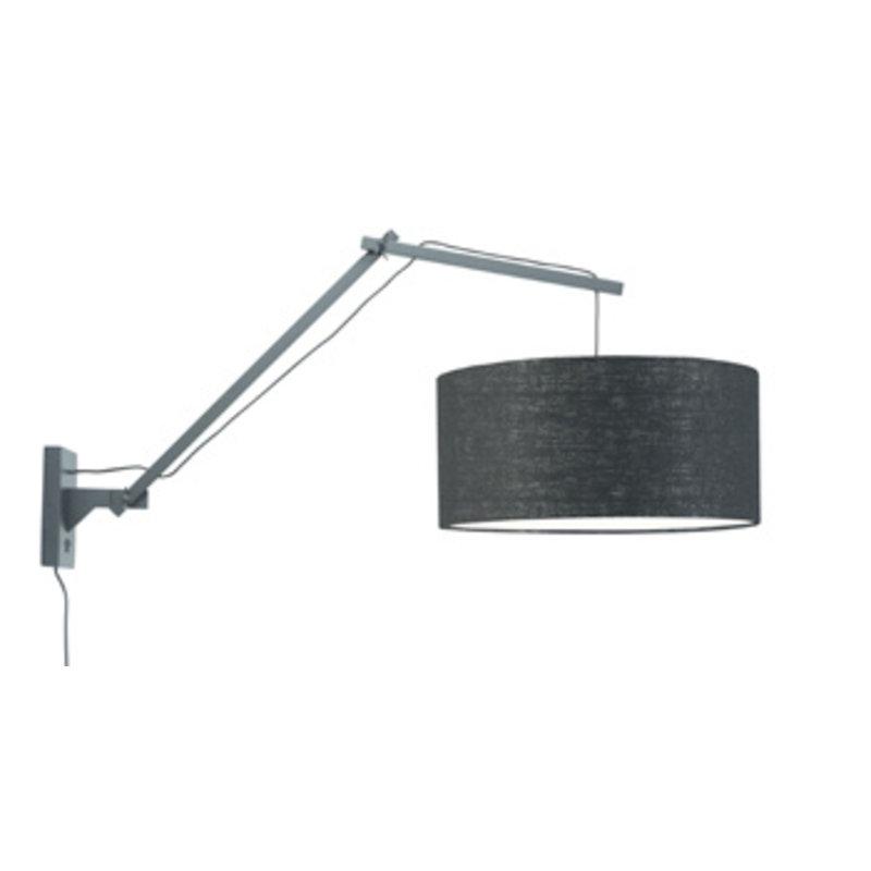 Good&Mojo-collectie Wandlamp Andes zwart/zwart L