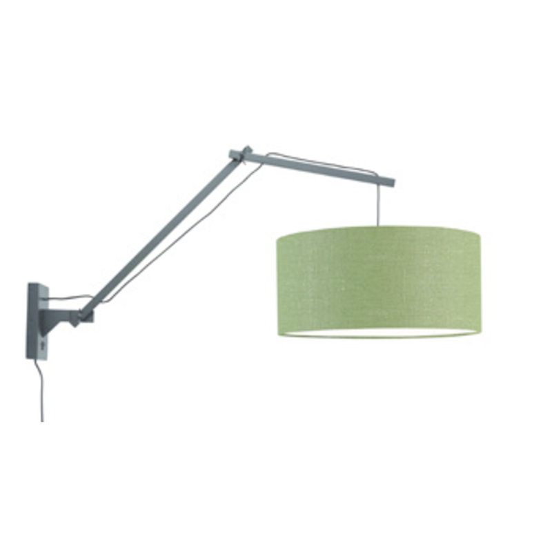 Good&Mojo-collectie Wandlamp Andes zwart/green forest L