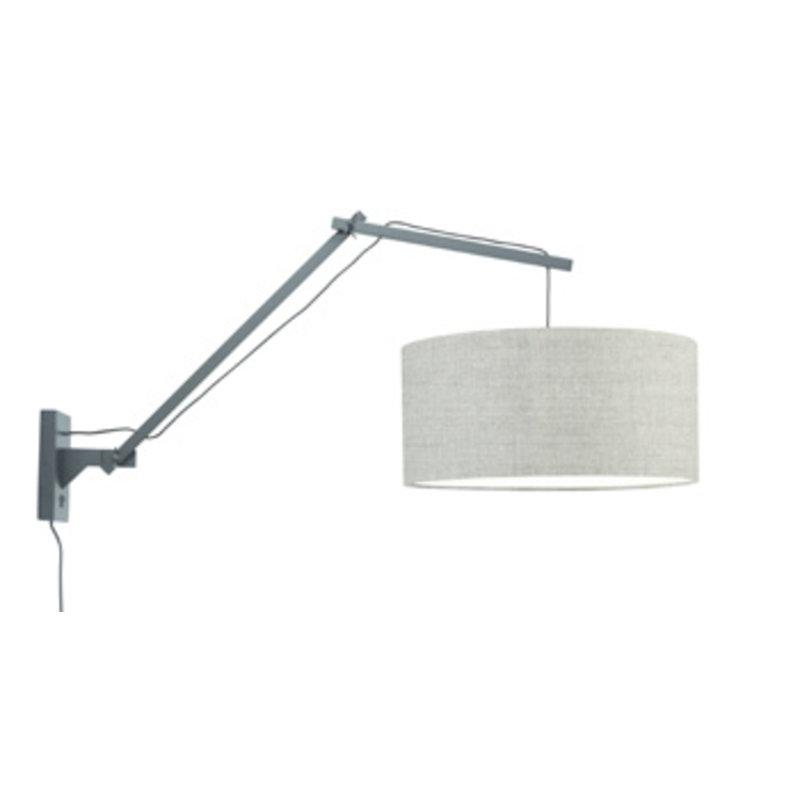 Good&Mojo-collectie Wall lamp Andes bl./shade 4723 ecolin. dark, L