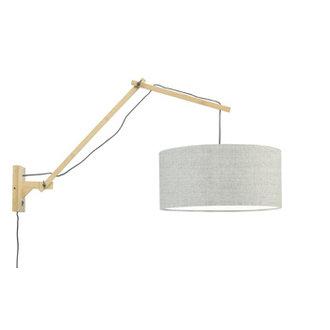 Good&Mojo Wandlamp Andes naturel/donker linnen L