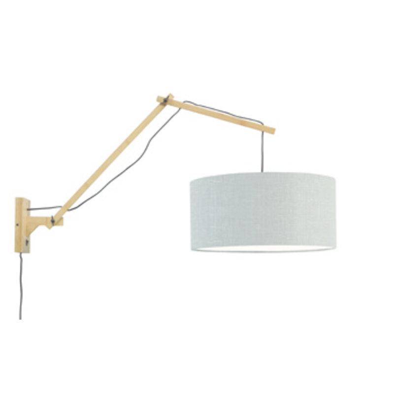 Good&Mojo-collectie Wall lamp Andes nat./shade 4723 ecolin. l.grey, L