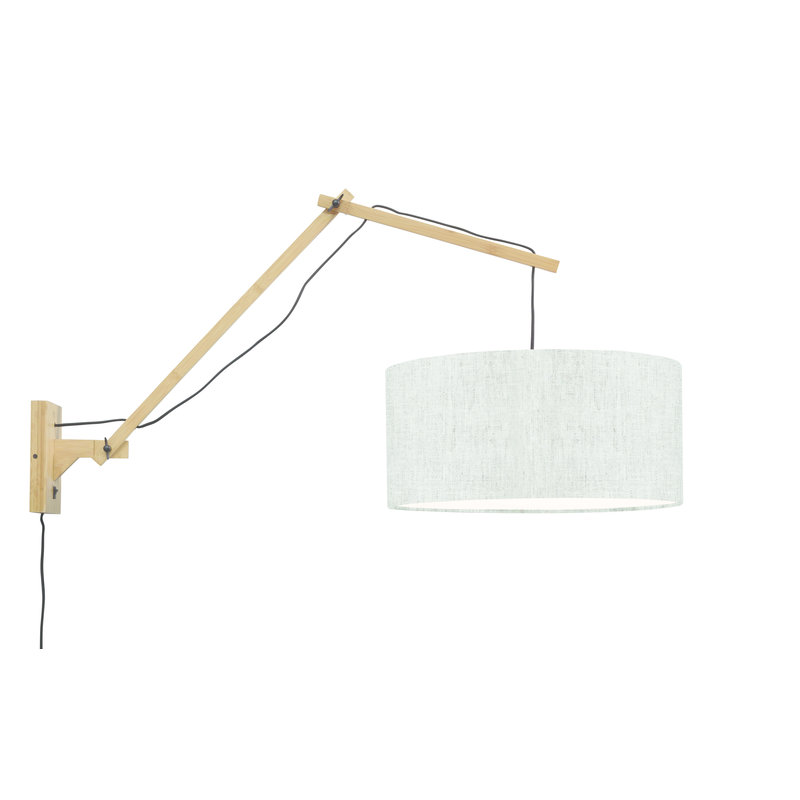 Good&Mojo-collectie Wall lamp Andes nat./shade 4723 ecolin. light, L