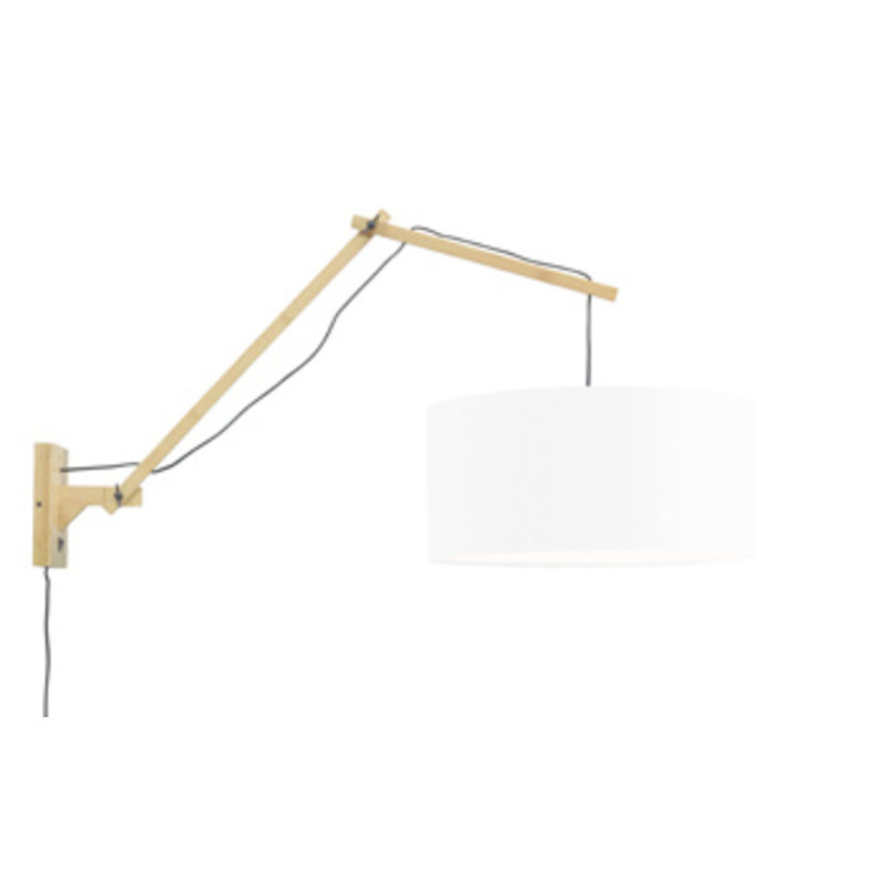 Good&Mojo-collectie Wandlamp Andes naturel/wit L