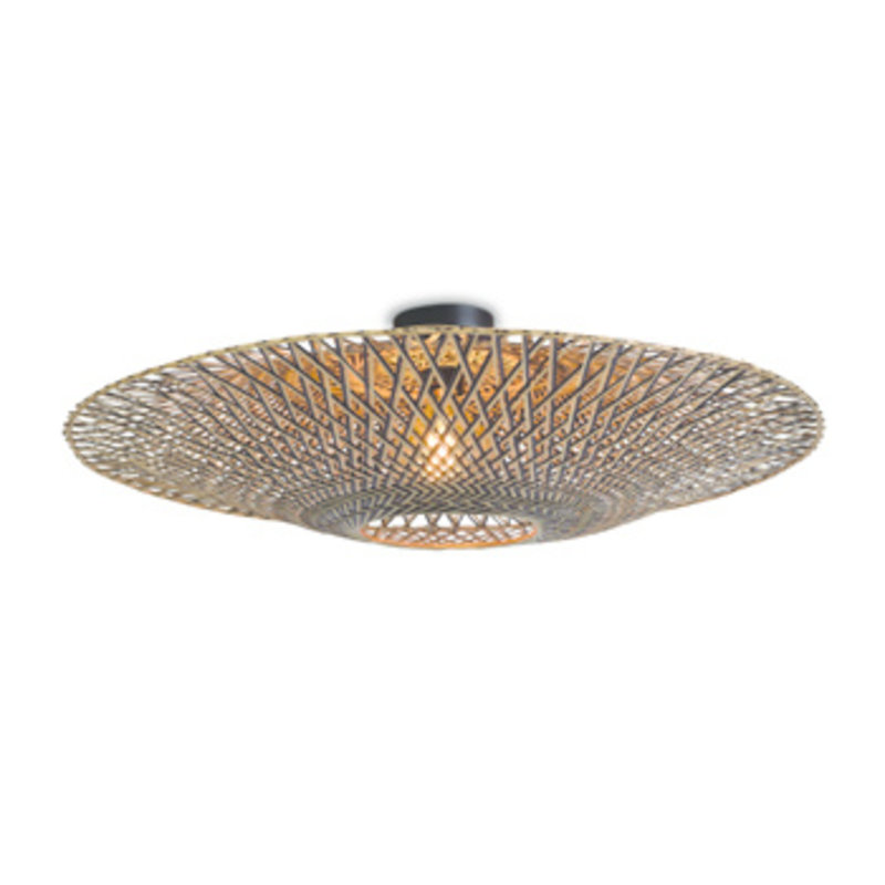 Good&Mojo-collectie Ceiling lamp Bali dia.87x20cm black/natural, L
