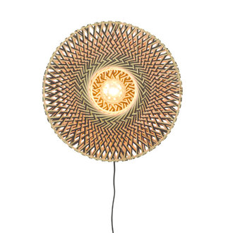 Good&Mojo Wall lamp Bali dia.44x12cm black/natural, S