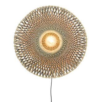 Good&Mojo Wall lamp Bali dia.60x15cm black/natural, M