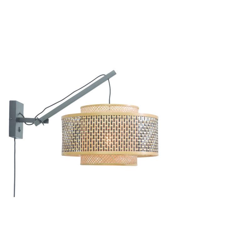 Good&Mojo-collectie Wall lamp Bhutan bl./shade 50x30cm bl./nat. S