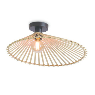 Good&Mojo Ceiling lamp Bromo asymm. dia.50x12cm natural, M