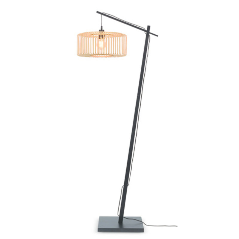 Good&Mojo-collectie Floor lamp Bromo bl. h.176cm/shade 40x18cm nat. S