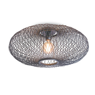 Good&Mojo Ceiling lamp Cango ellipse dia.60x25cm black