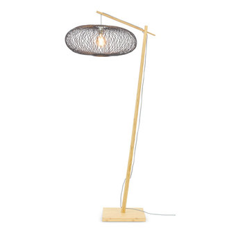 Good&Mojo Vloerlamp Cango naturel/zwart S