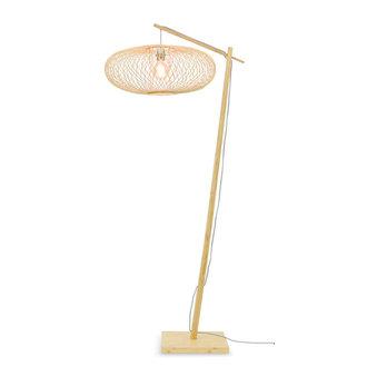 Good&Mojo Floor lamp Cango nat. h.176cm/shade 60x25cm black