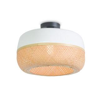 Good&Mojo Ceiling lamp Mekong dia.40x22cm wit/natural