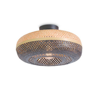 Good&Mojo Ceiling lamp Palawan 40x15cm nat./black, S