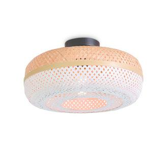 Good&Mojo Ceiling lamp Palawan 40x15cm, nat./white, S