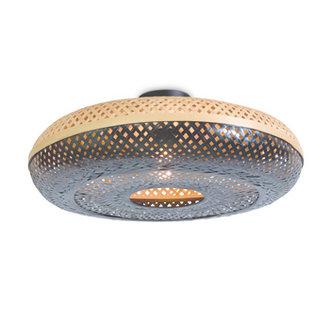 Good&Mojo Ceiling lamp Palawan 60x15cm nat./black, L