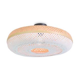 Good&Mojo Ceiling lamp Palawan 60x15cm, nat./white L