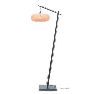 Good&Mojo Vloerlamp Palawan zwart/naturel S