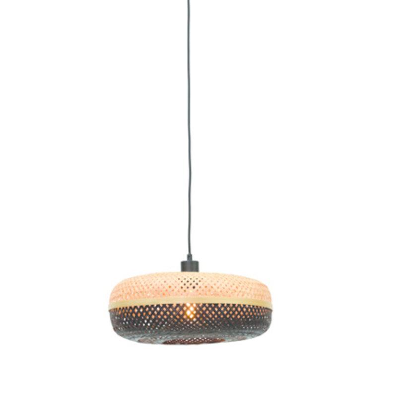 Good&Mojo-collectie Hanglamp Palawan 40cm naturel/zwart S