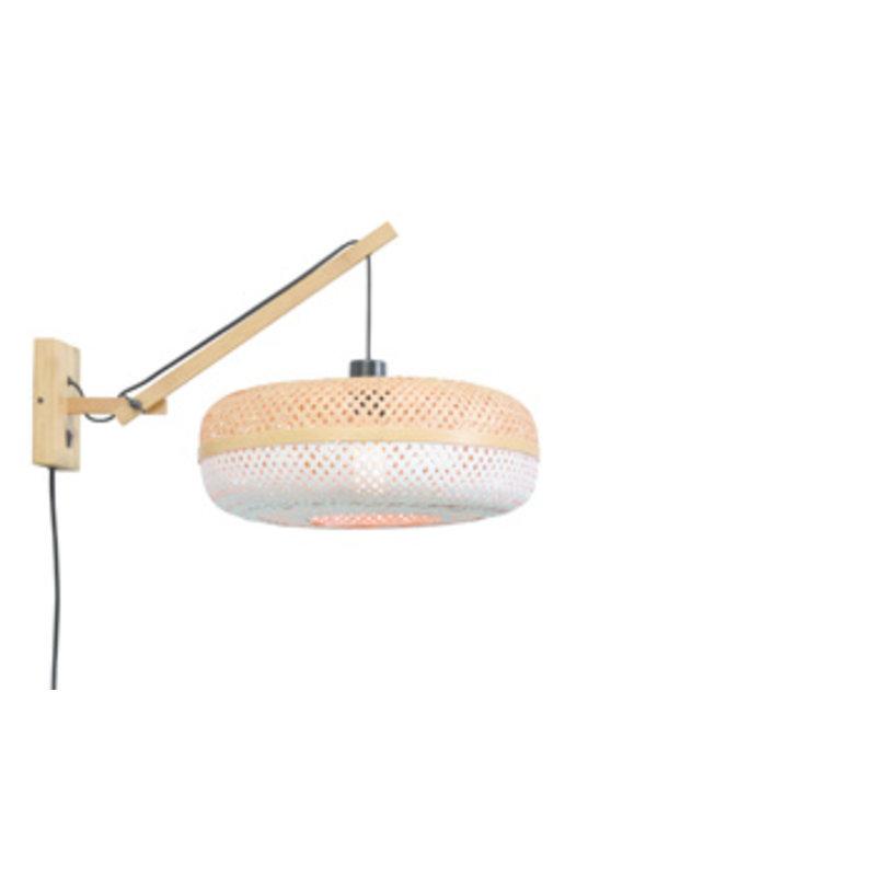 Good&Mojo-collectie Wall lamp Palawan nat./shade 40x15cm nat./white, S