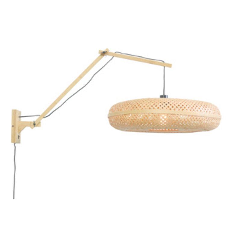Good&Mojo-collectie Wandlamp Palawan naturel/naturel L