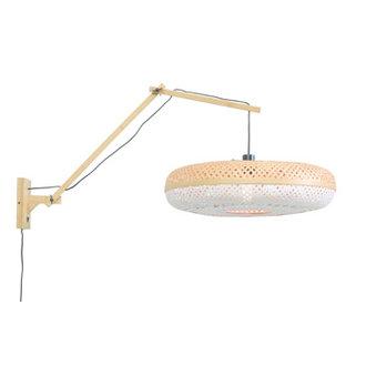 Good&Mojo Wall lamp Palawannat./shade dia.60x15cm nat./white L
