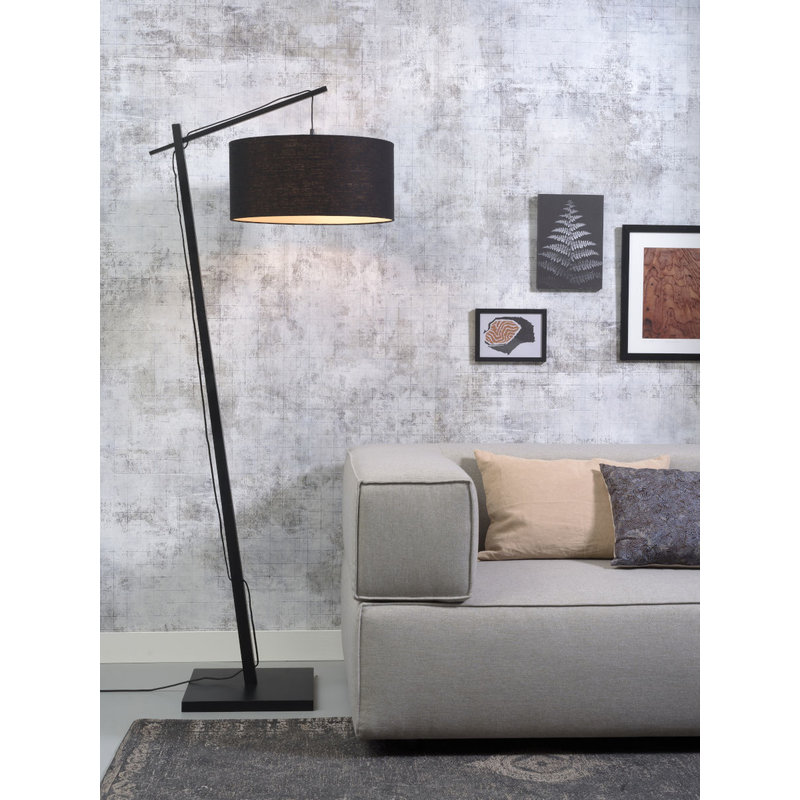 Good&Mojo-collectie Floor lamp Andes bl./shade 4723 ecolin. bl.