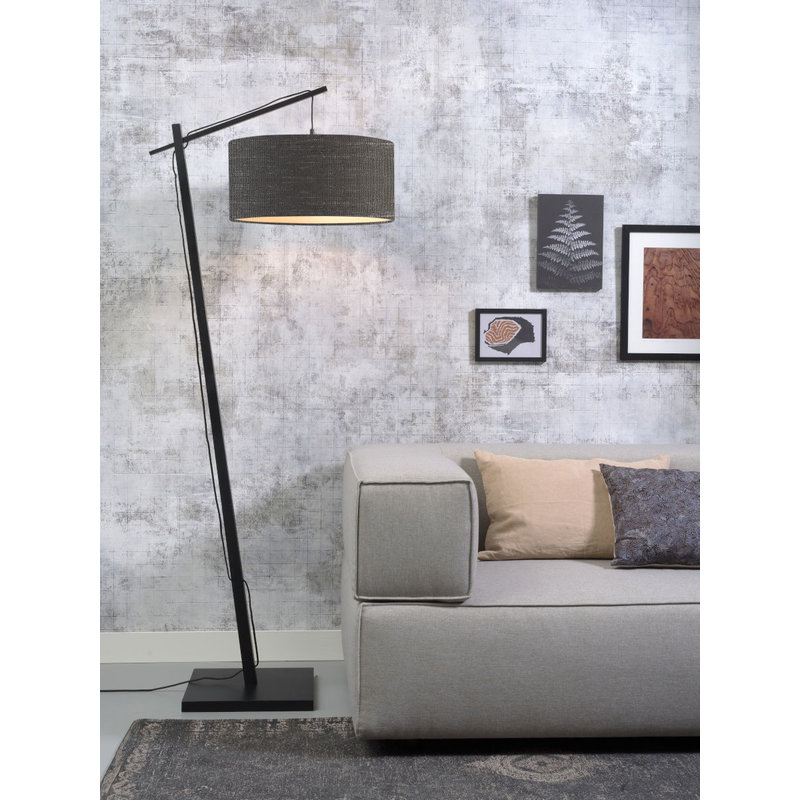 Good&Mojo-collectie Floor lamp Andes bl./shade 4723 ecolin. d.grey