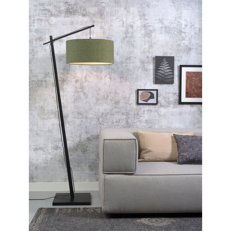 Good&Mojo-collectie Vloerlamp Andes zwart/green forest