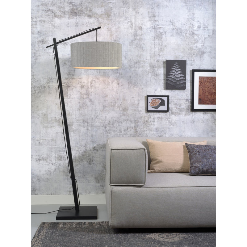 Good&Mojo-collectie Floor lamp Andes bl./shade 4723 ecolin. l.grey