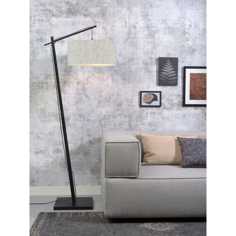 Good&Mojo-collectie Floor lamp Andes bl./shade 4723 ecolin. l.linen