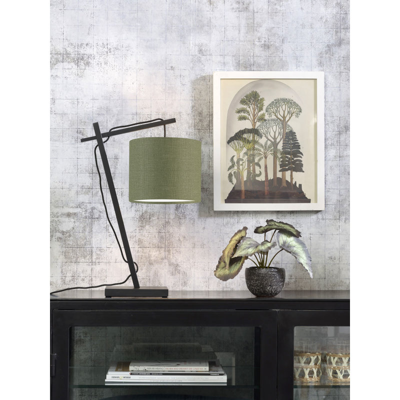 Good&Mojo-collectie Table lamp Andes bl./shade 1815 ecolin. gr.forest
