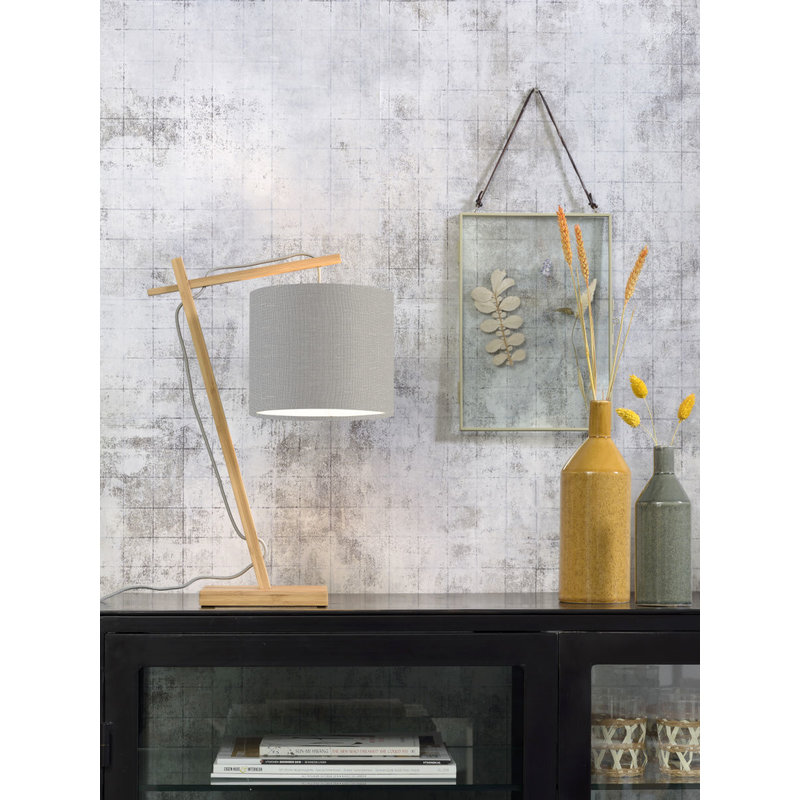 Good&Mojo-collectie Tafellamp Andes naturel/lichtgrijs