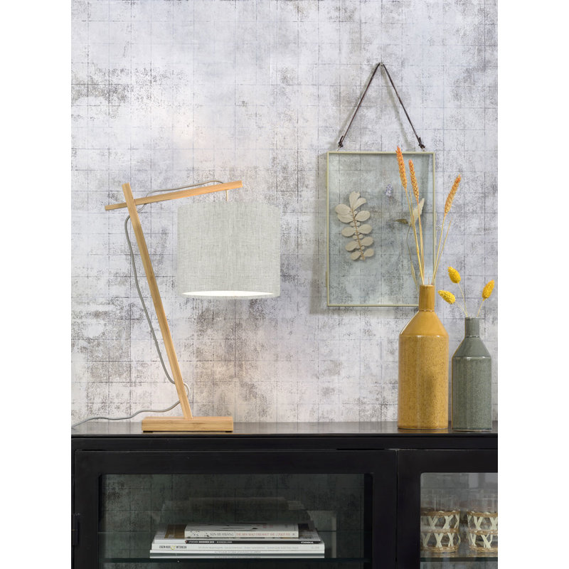 Good&Mojo-collectie Tafellamp Andes naturel/licht linnen