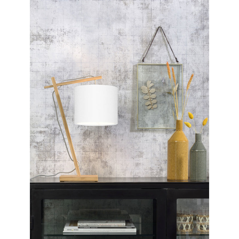 Good&Mojo-collectie Table lamp Andes nat./shade 1815 ecolin. white