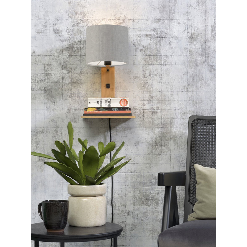 Good&Mojo-collectie Wandlamp Andes naturel/lichtgrijs