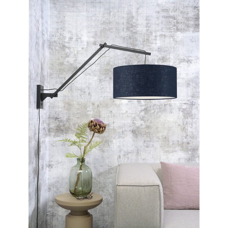 Good&Mojo-collectie Wandlamp Andes zwart/blue denim L