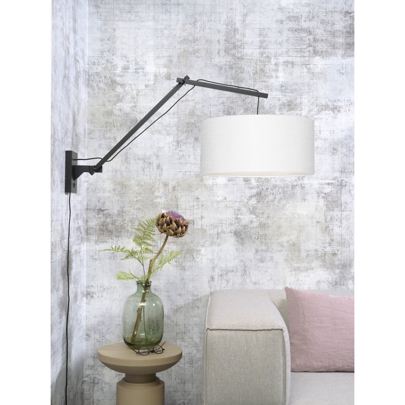 Good&Mojo-collectie Wandlamp Andes zwart/wit L