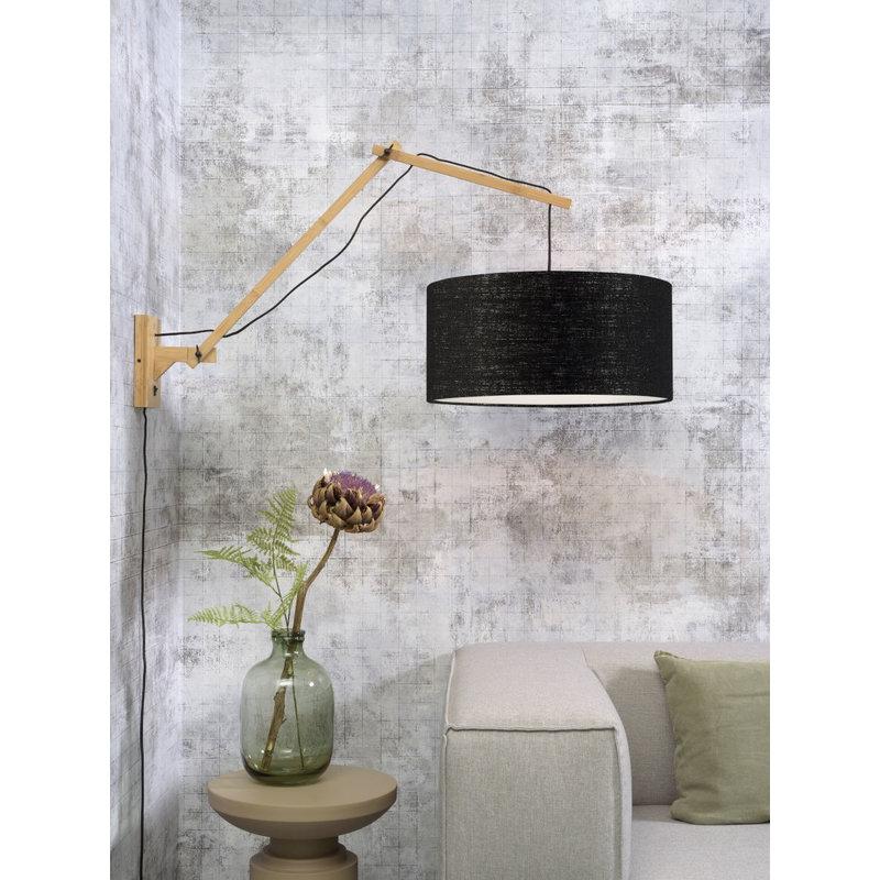 Good&Mojo-collectie Wall lamp Andes nat./shade 4723 ecolin. black, L