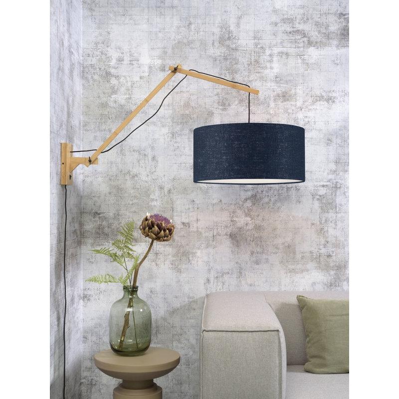 Good&Mojo-collectie Wandlamp Andes naturel/blue denim L
