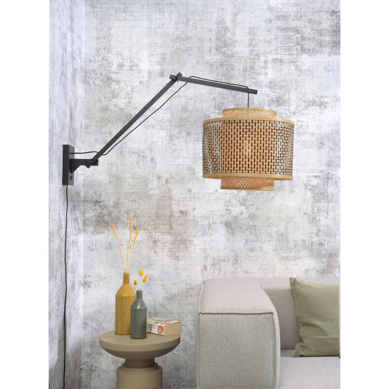 Good&Mojo-collectie Wall lamp Bhutan bl./shade 40x34cm bl./natural, L