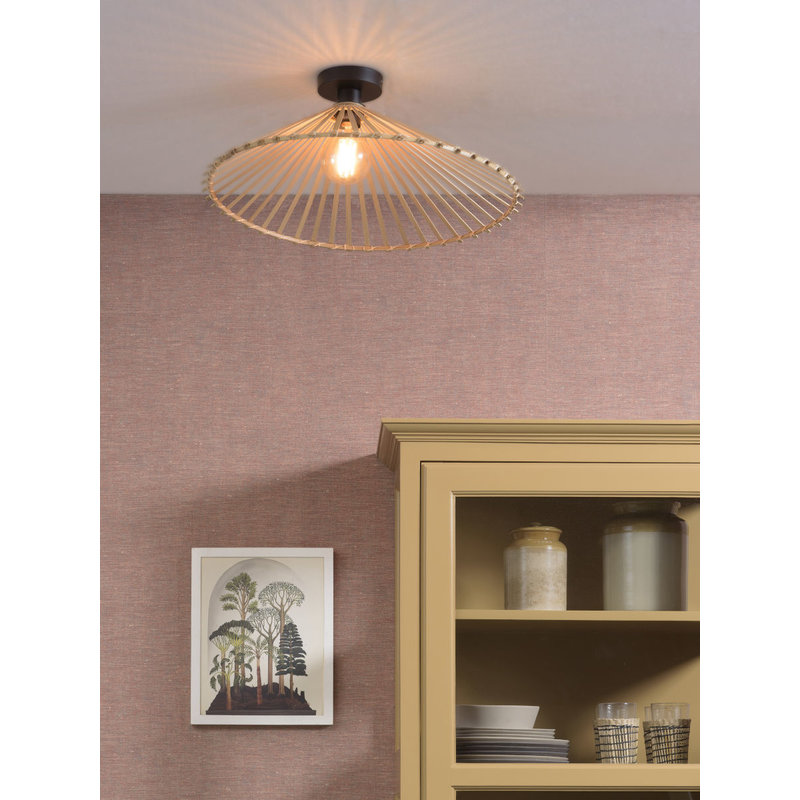 Good&Mojo-collectie Ceiling lamp Bromo asymm. dia.60x13cm natural, L