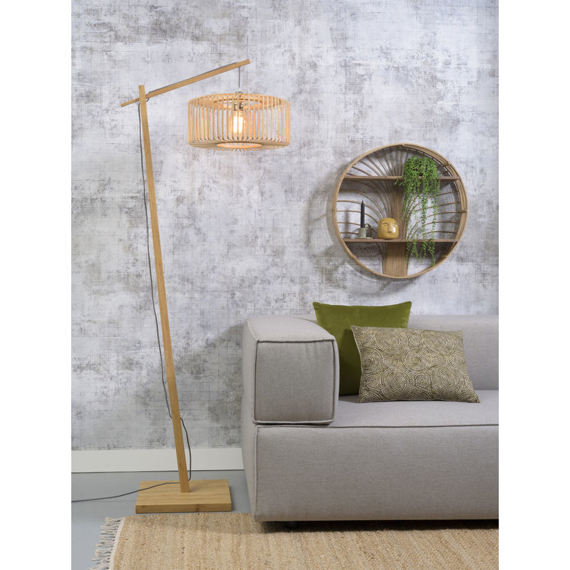 Good&Mojo-collectie Floor lamp Bromo nat. h.176cm/shade dia.40x18cm nat. S