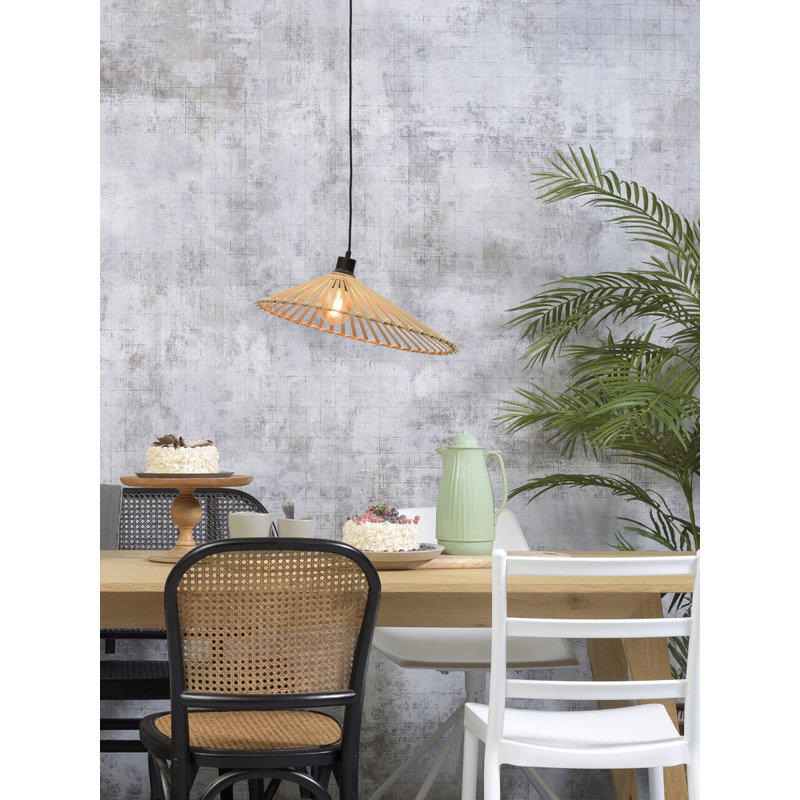 Good&Mojo-collectie Hanging lamp Bromo asymm. dia.50x12cm natural, M