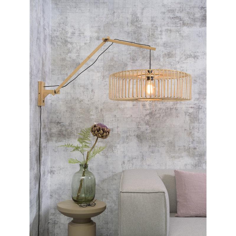 Good&Mojo-collectie Wall lamp Bromo natural/shade dia.60x18cm nat. L