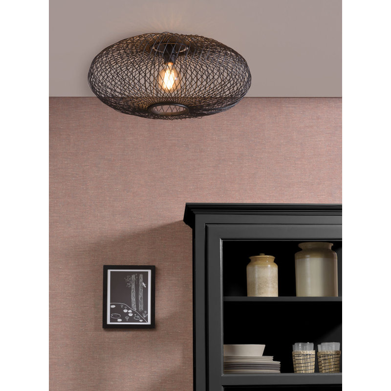 Good&Mojo-collectie Ceiling lamp Cango ellipse dia.60x25cm black