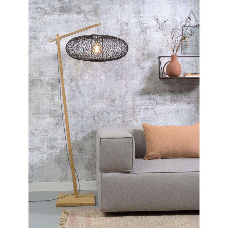 Good&Mojo-collectie Floor lamp Cango nat. h.176cm/shade 60x25cm natural