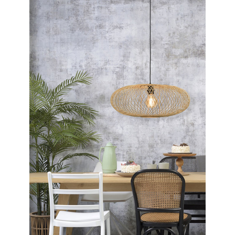 Good&Mojo-collectie Hanging lamp Cango ellipse dia.60x25cm natural