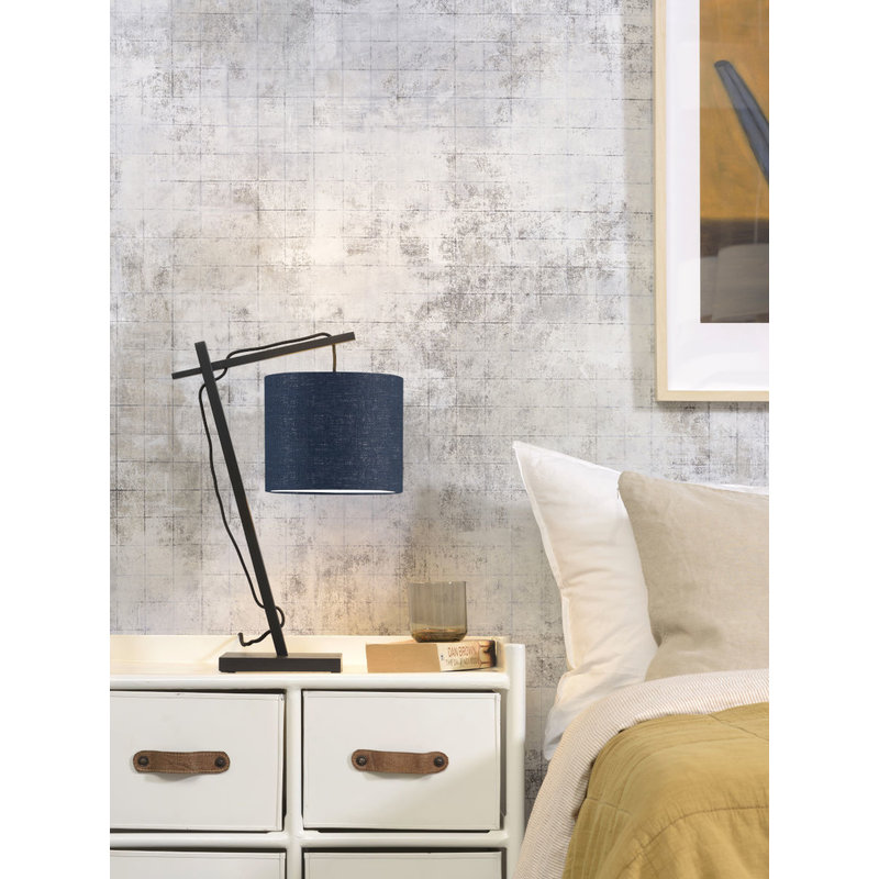 Good&Mojo-collectie Tafellamp Andes zwart/blue denim