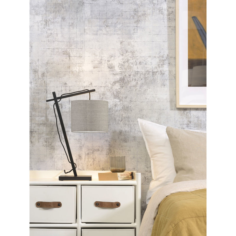 Good&Mojo-collectie Table lamp Andes bl./shade 1815 ecolin. dark